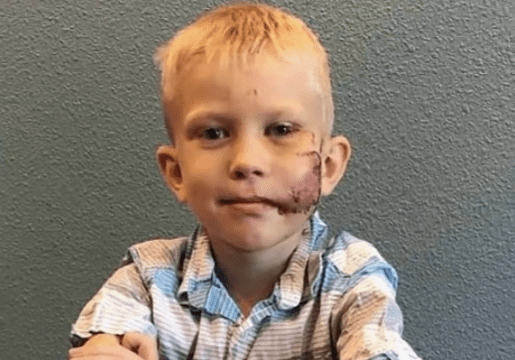 Bridger Walker,6-Year-Old boy who saved his younger sister from dog attack. | Photo: YouTube/Inside Edition