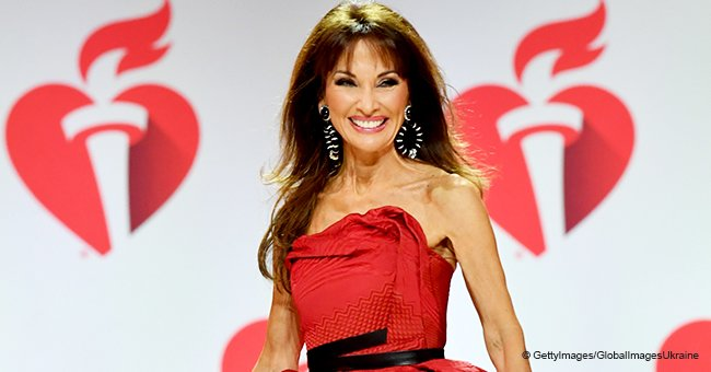 Susan Lucci takes a tumble on the runway, but her reaction is pure gold