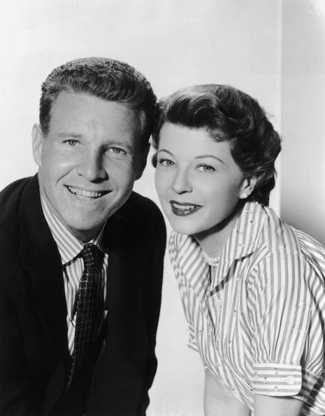 Promotional studio portrait of married American actors Ozzie (1906 - 1975) and Harriet Nelson (1909 - 1994) | Photo: Getty Images