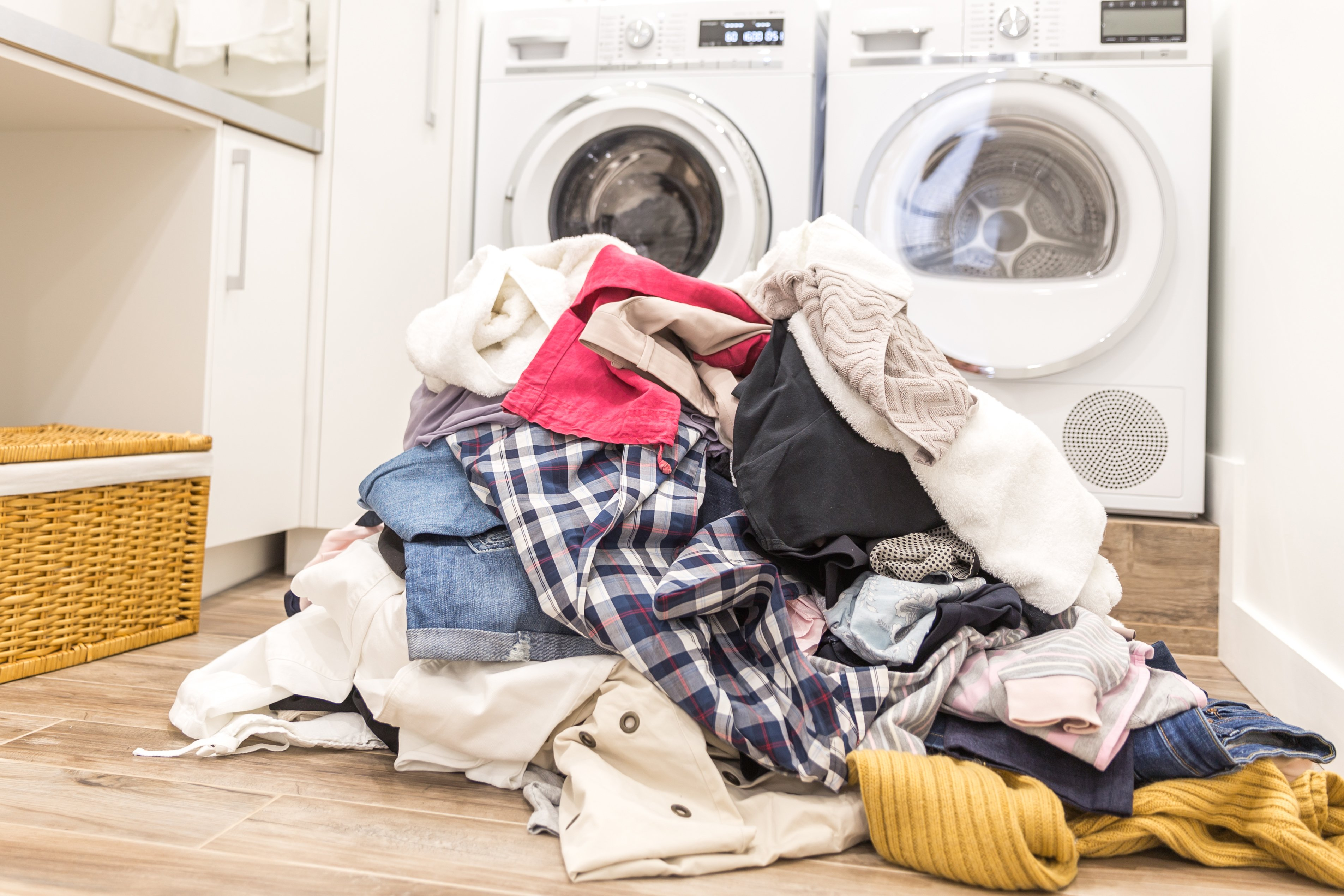 Dirty laundry on the floor. | Photo: Shutterstock