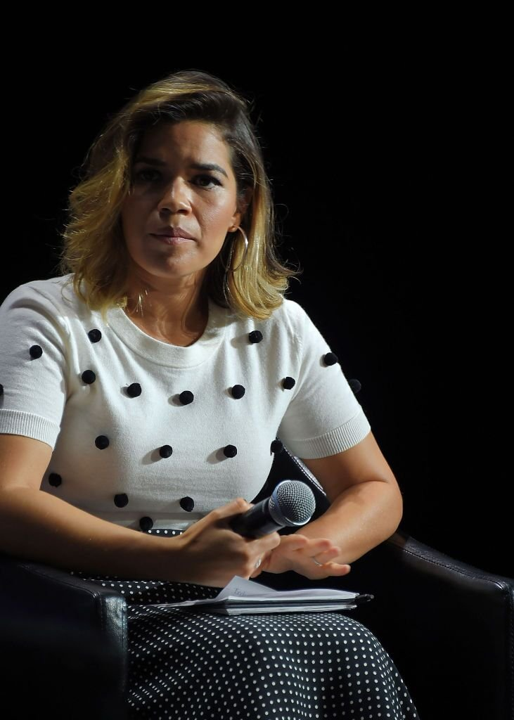 America Ferrera moderates Tribeca Talks: Lena Dunham and Jenni Konner. | Source: Getty Images