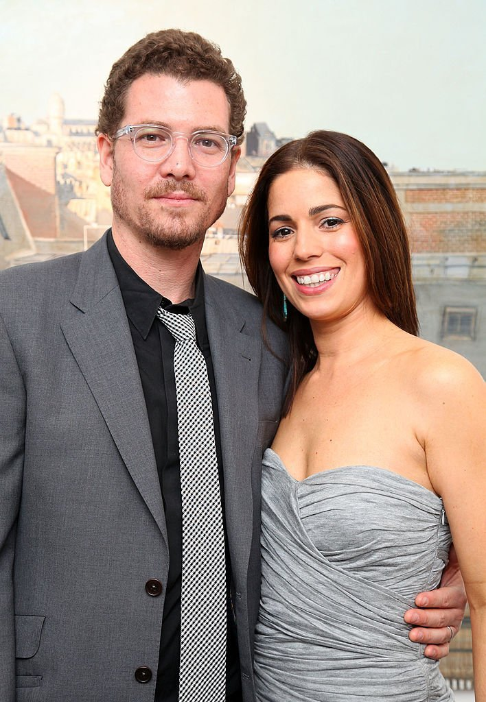 """Noah Lebenzon and actress Ana Ortiz attend an """"Ugly Betty"""" charity auction benefiting Save the Children at Axelle Fine Arts Gallery Ltd 