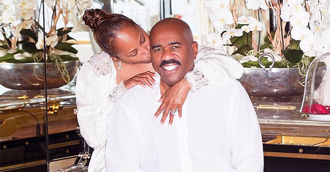 Steve Harvey's Wife Marjorie Shares Sweet Videos & Pics from Her Husband's 63rd Birthday Celebration