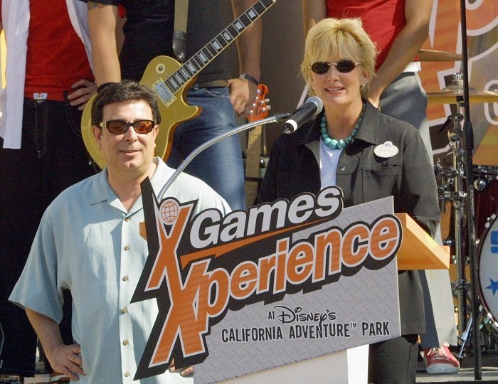 Cynthia Harris and X Games creator Ron Semaio of ESPN l Picture: Getty Images