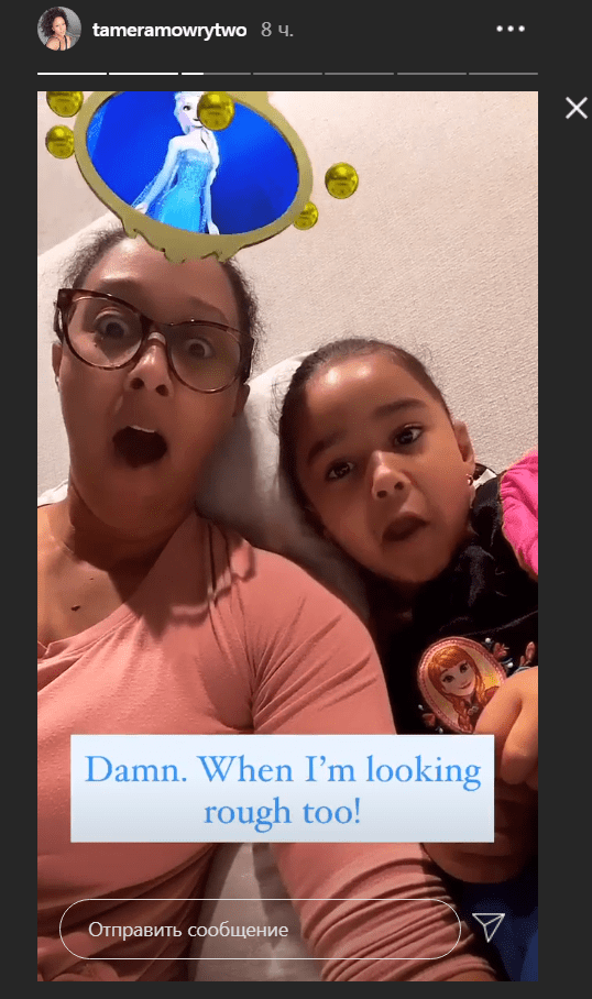 Tamera Mowry and her daughter, Ariah Talea, playing with Instagram filters. | Photo: Instagram/tameramowrytwo