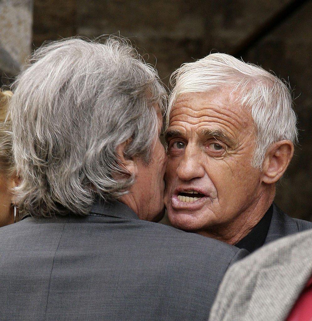 Alain Delon et Jean-Paul Belmondo. l Source : Getty Images