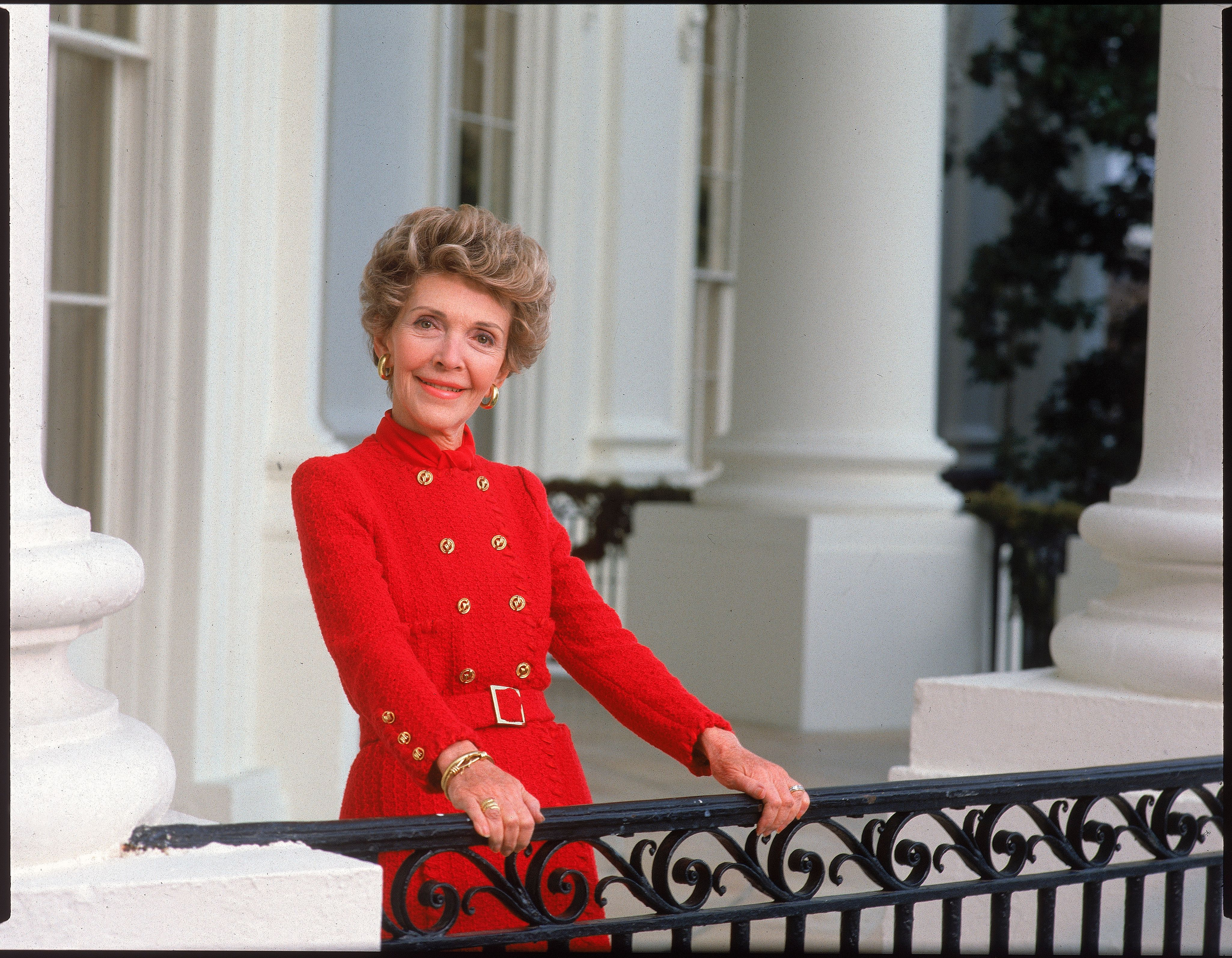 Portrait of First Lady Nancy Reagan at the White House. | Getty Images