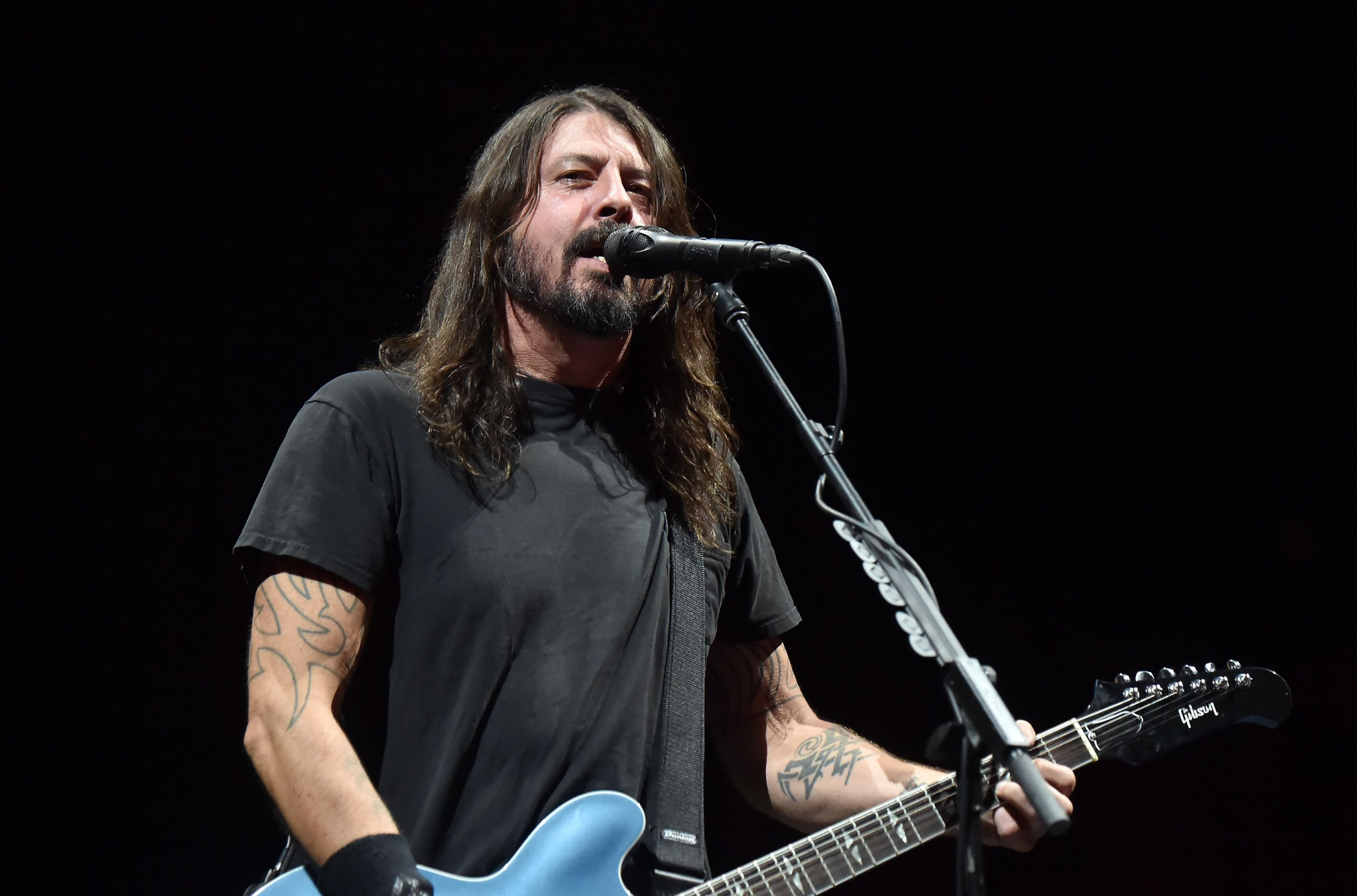Dave Grohl of the Foo Fighters performs at Cal Jam on October 7, 2017   Photo: Getty Images