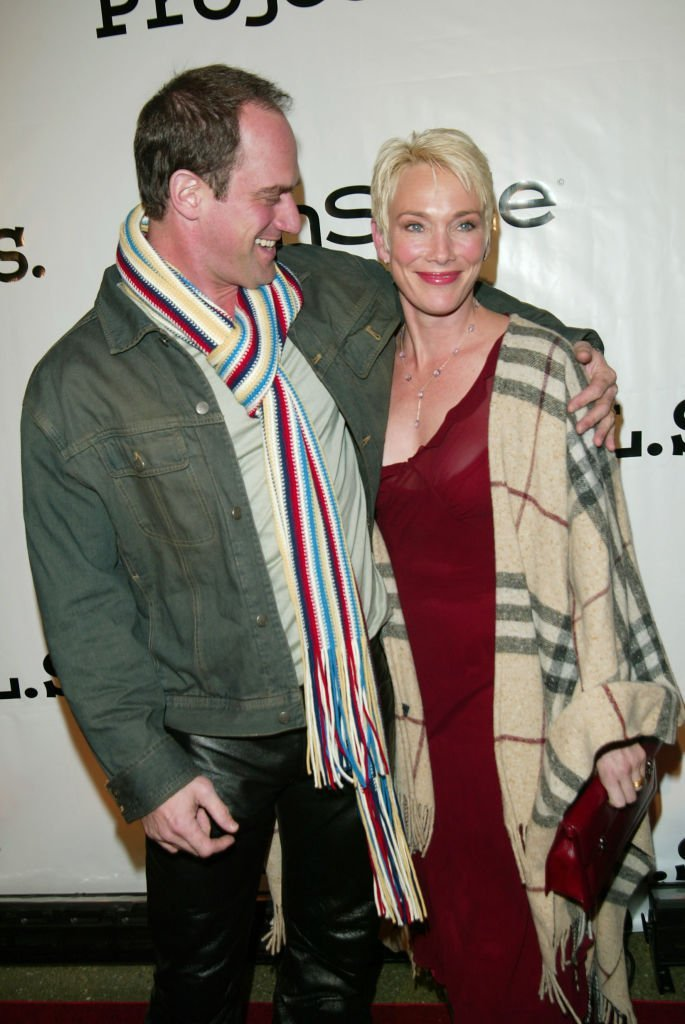 """Christopher Meloni and wife Sherman Williams attend the """"Tomorrow Is Tonight"""" gala in New York City on October 21, 2002 