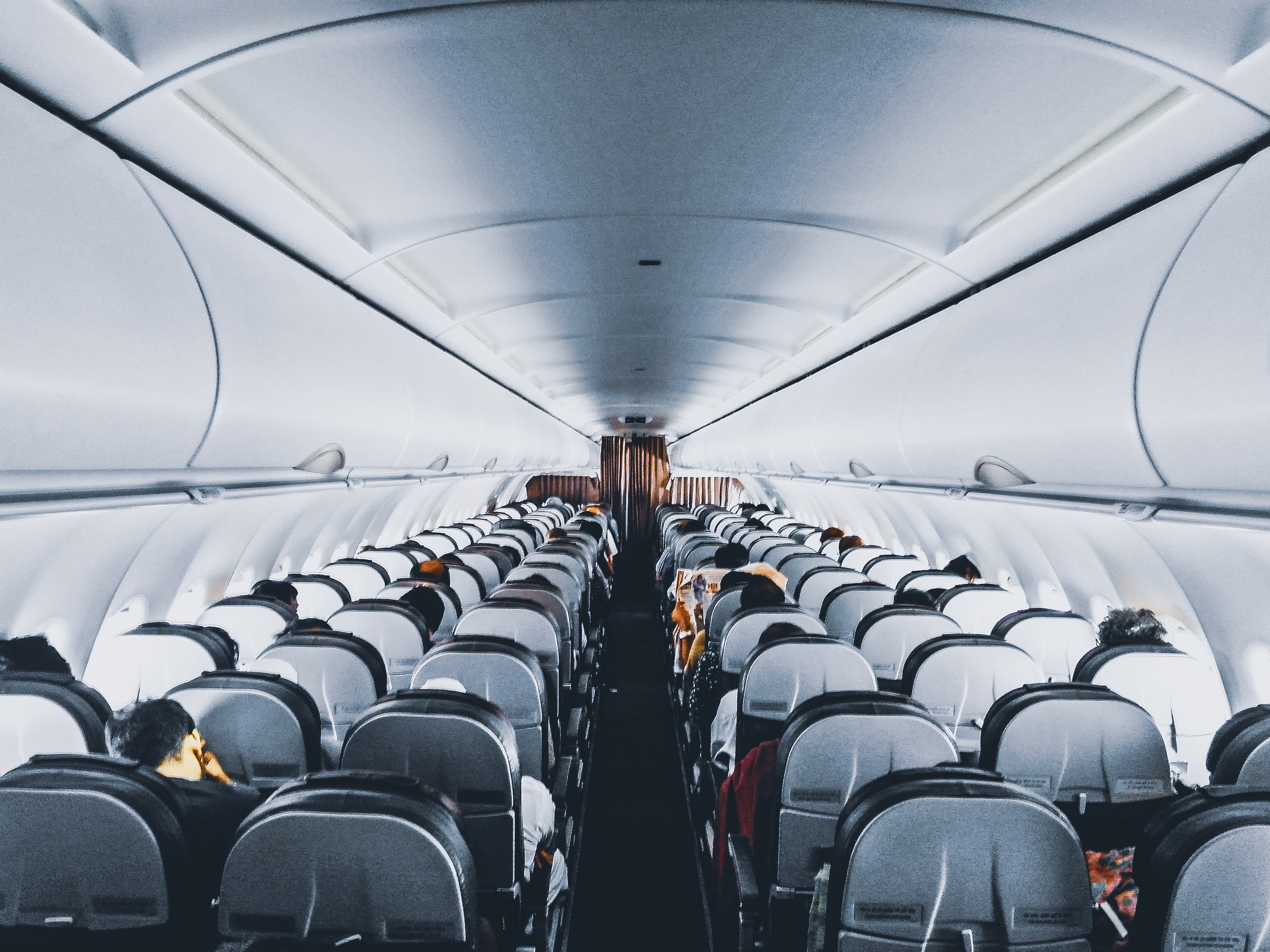 Pictured - People inside a commercial airplane | Source: Pexels