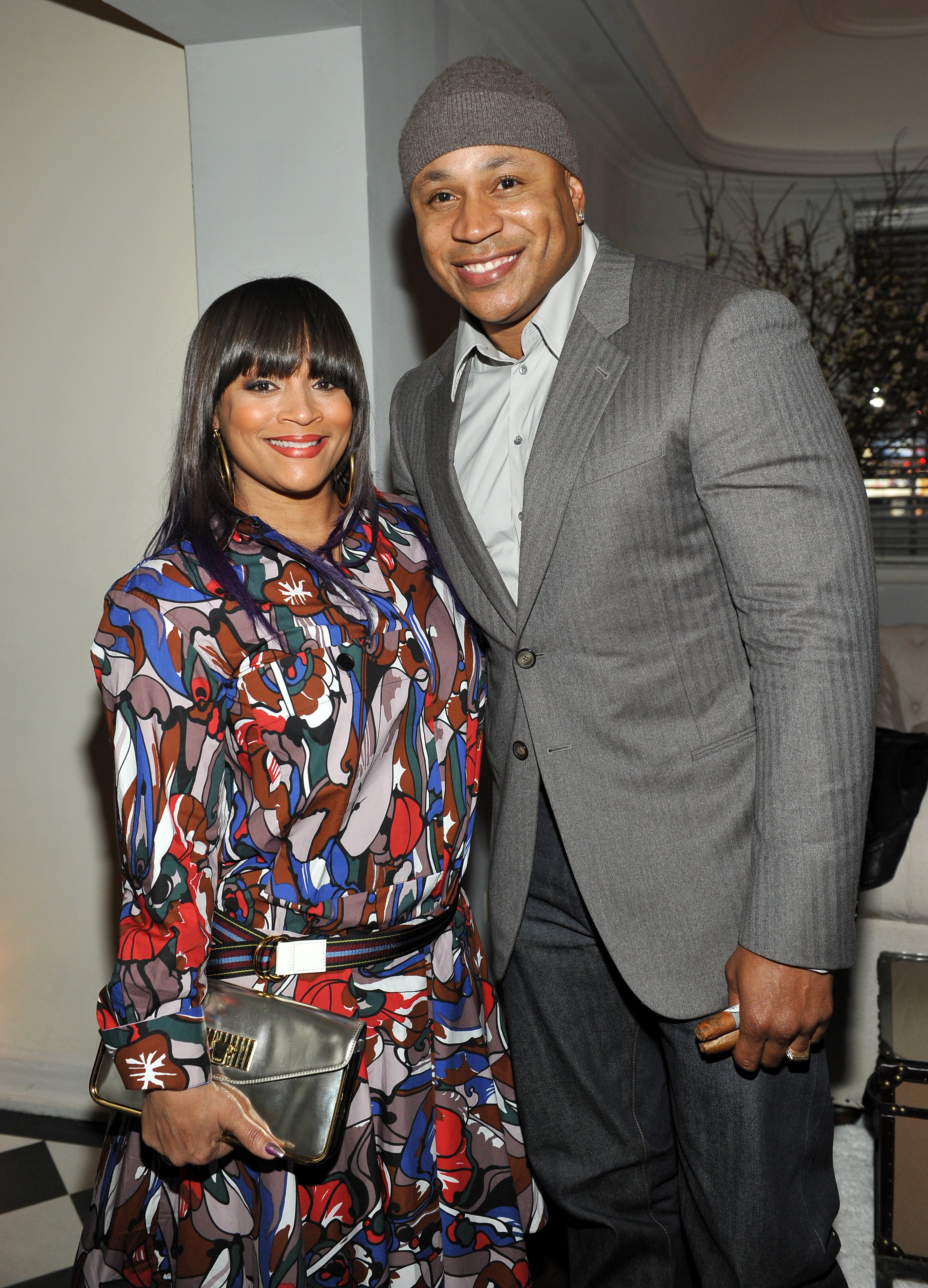"""Simone Smith and LL Cool J attend """"A Toast To Regina King"""" at Chateau Marmont on January 30, 2016 in Los Angeles, California. 