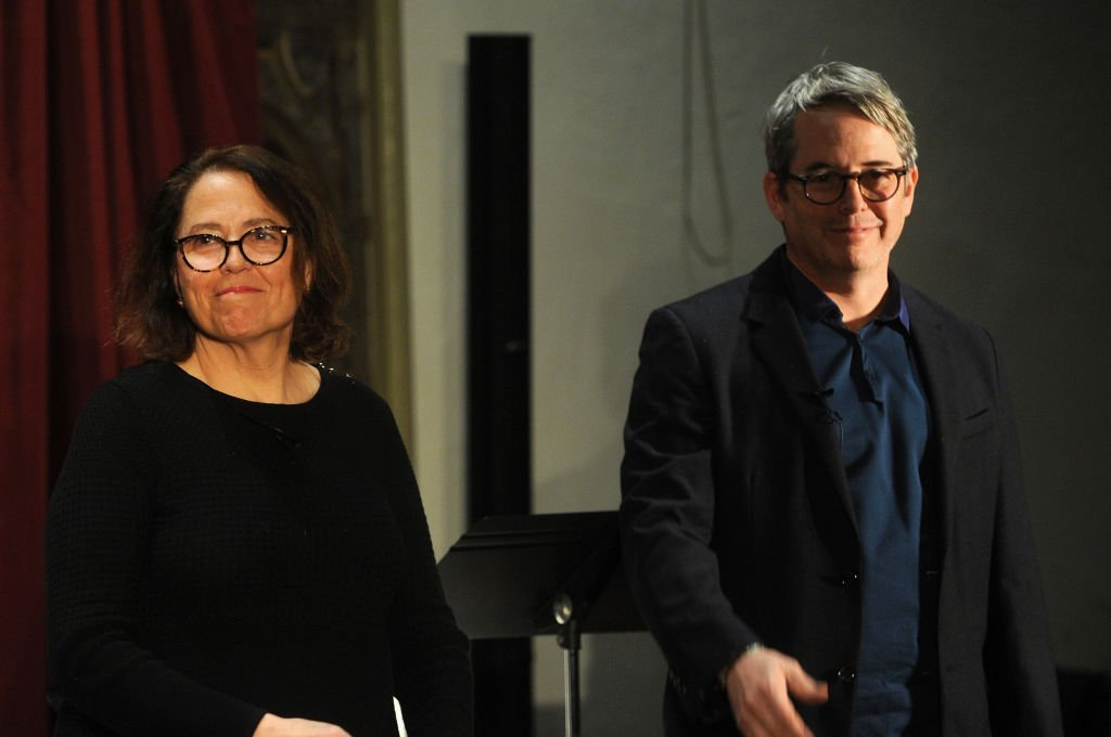 "Rev Janet Broderick and her brother actor Matthew Broderick perform a reading of Truman Capote's ""A Christmas Memory"" at St Peter's Episcopal Church on December 14, 2018 