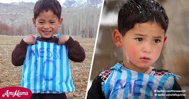 Niño afgano que se hizo viral por su camiseta de Messi ve su vida convertida en un infierno