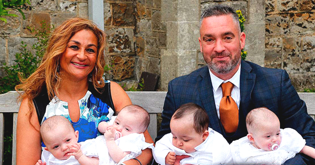Granny-of-Eight Who Became a Mom of Quadruplets at 50 Sees Her Kids Christened