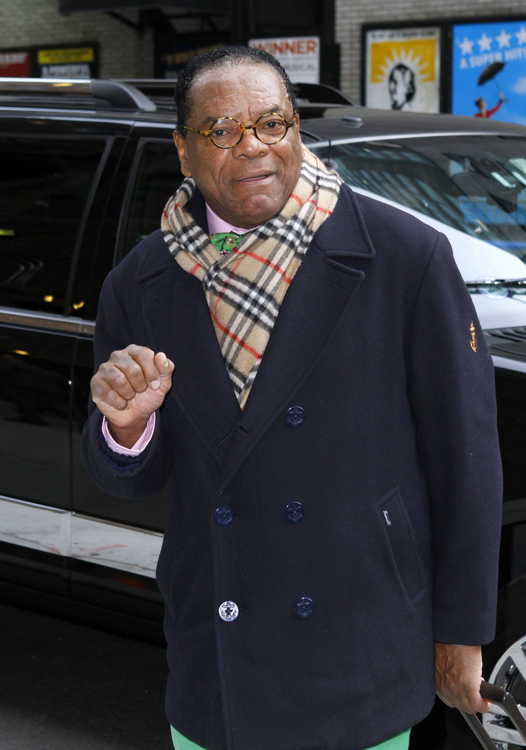 "John Witherspoon arrives for ""The Late Show with David Letterman"" on Feb. 22, 2012 in New York City 