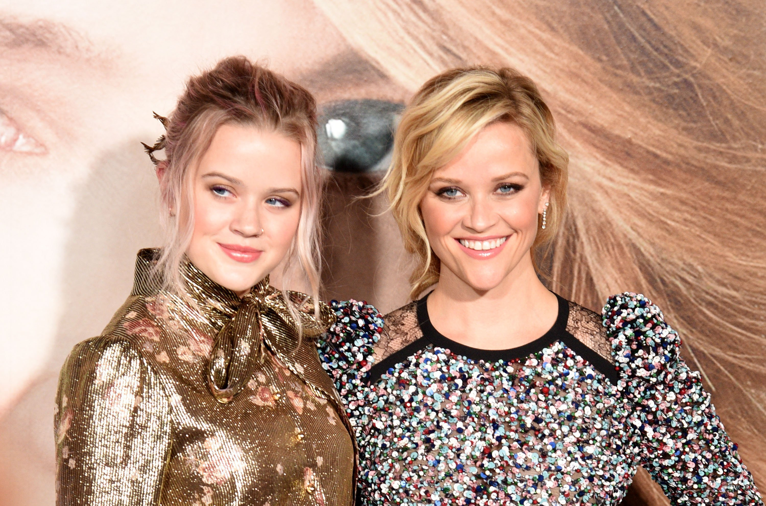 "Ava Phillipe and Reese Witherspoon attend the premiere of HBO's ""Little Big Lies"" in Hollywood, California on February 7, 2017 
