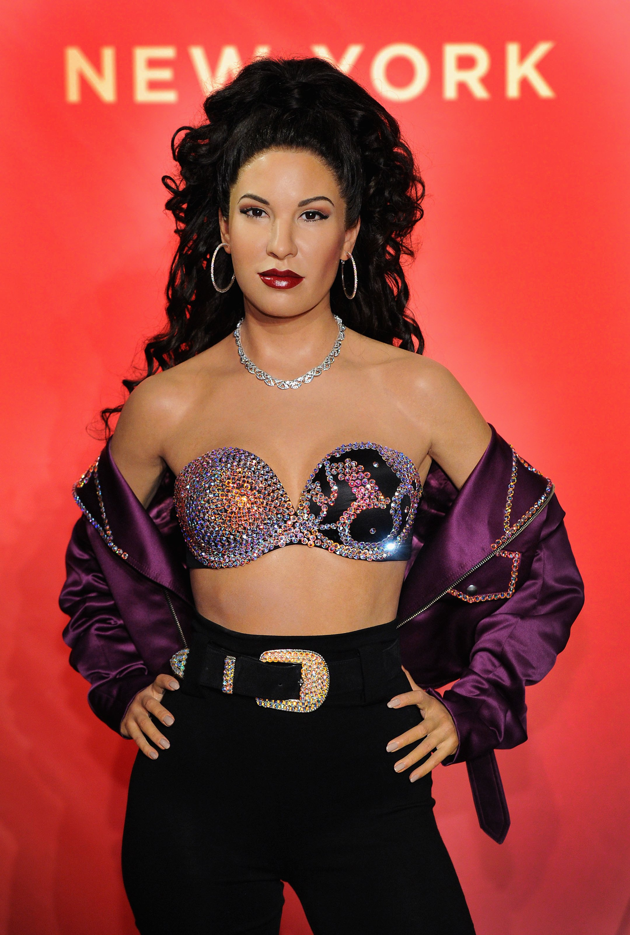 Madame Tussauds New York hosts Selena Quintanilla's sister for unveiling of late singer's figure in Times Square at Madame Tussauds on June 23, 2017 in New York City. | Photo: Getty Images