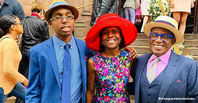 Al Roker, Wife Deborah Roberts and Son Have That 'Easter Glow' (Photos)