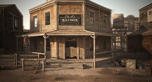 An old Western town saloon. | Source: Shutterstock.