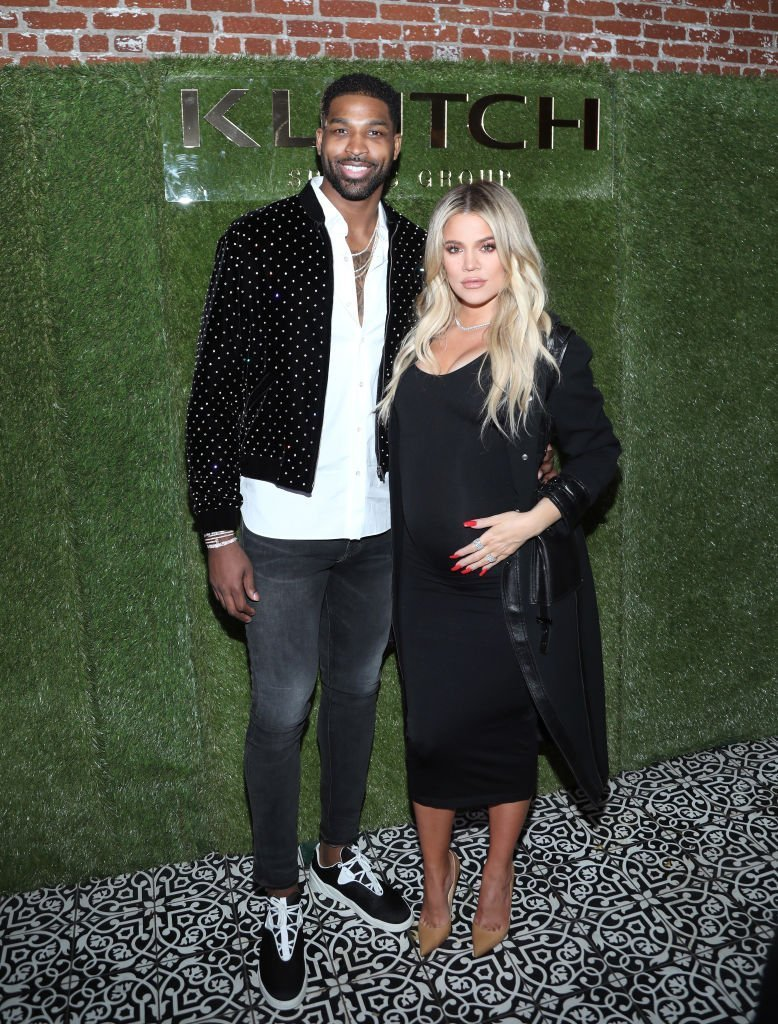 "Tristan Thompson and Khloe Kardashian attend the Klutch Sports Group ""More Than A Game"" Dinner Presented by Remy Martin at Beauty & Essex 