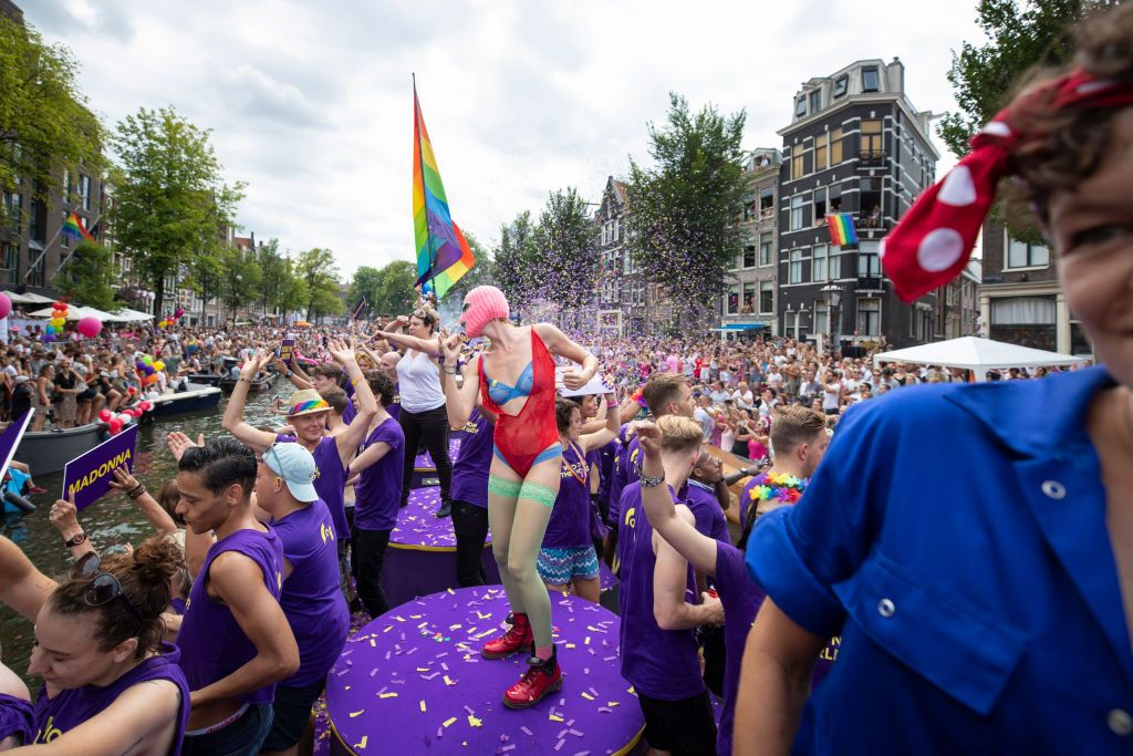 Jährliche Gay Pride Canal Parade, 4. August 2018, in Amsterdam, Niederlande. | Quelle: Getty Images
