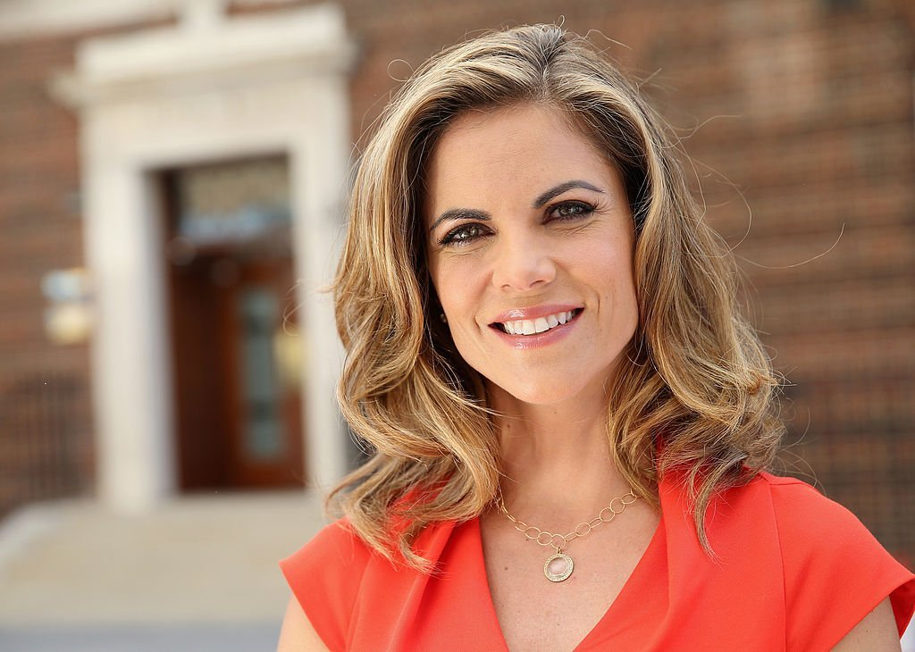 Natalie Morales poses for a portrait outside St Mary's Hospital as the press prepared for the birth of Prince George, on July 18, 2013. | Photo: Getty Images