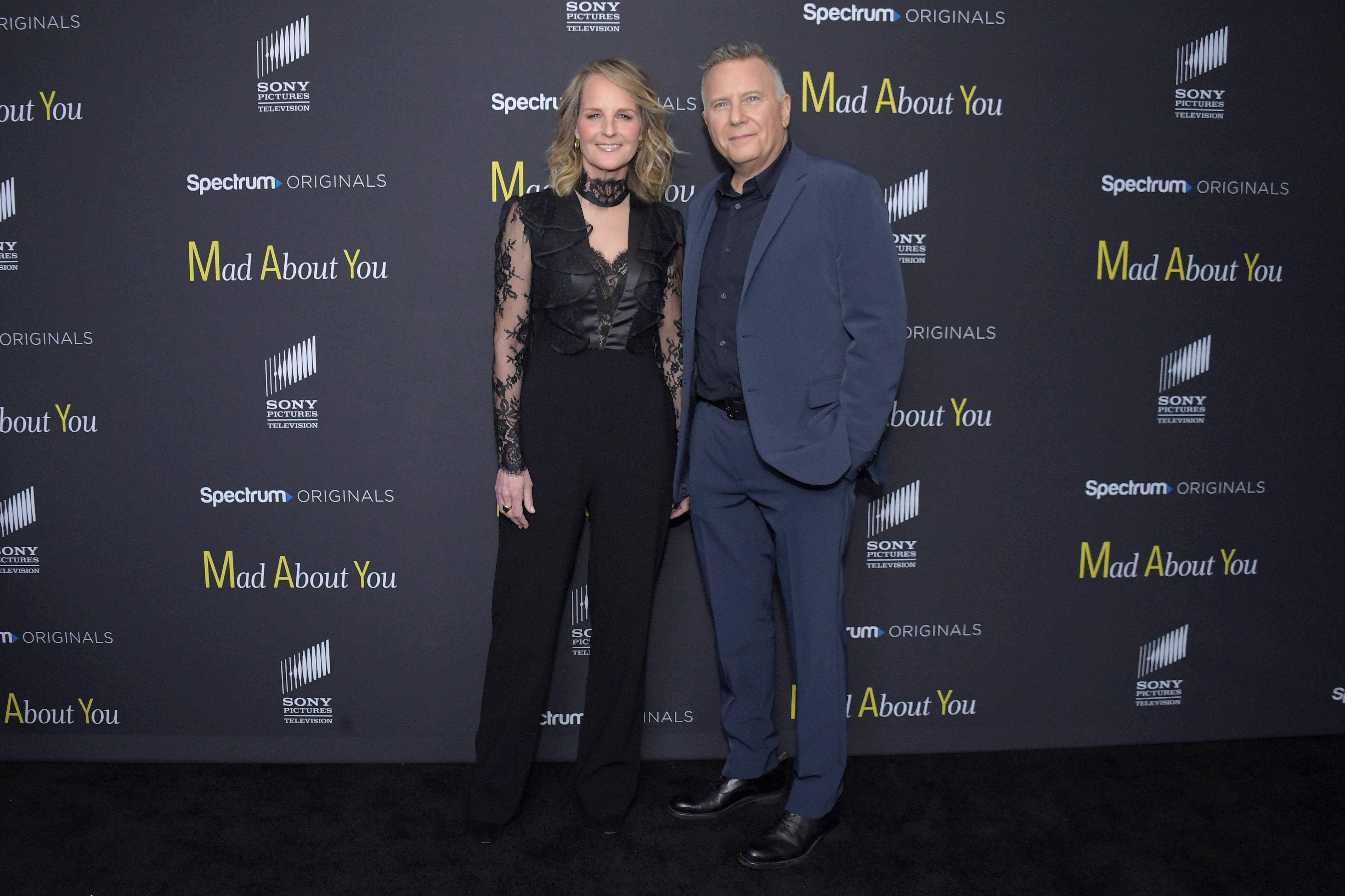 "Helen Hunt and Paul Reiser attend the ""Mad About You"" red carpet event at The Rainbow Room on December 16, 2019, in New York City. 