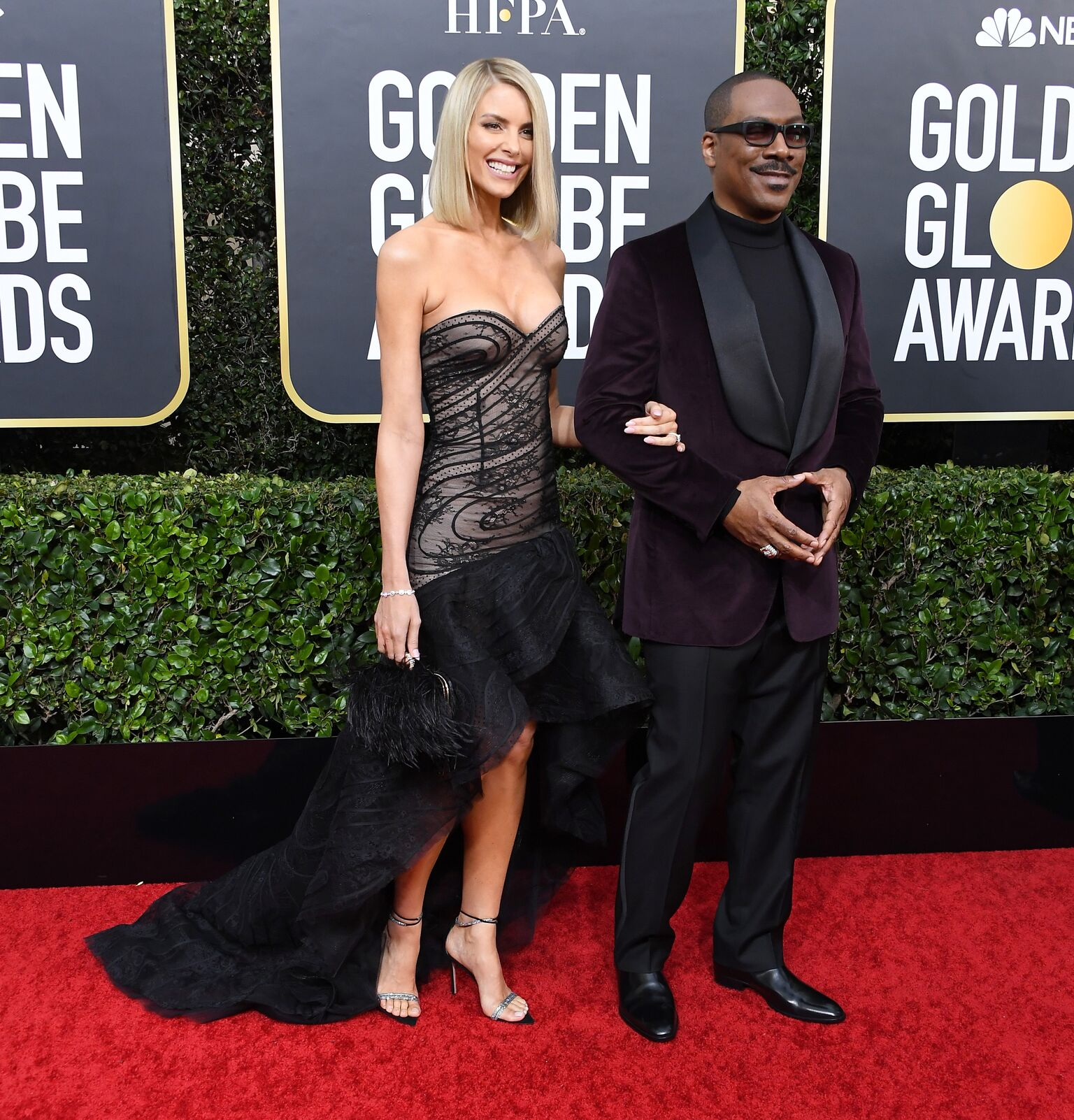 Paige Butcher and Eddie Murphy arrives at the 77th Annual Golden Globe Awards attends the 77th Annual Golden Globe Awards at The Beverly Hilton Hotel | Getty Images