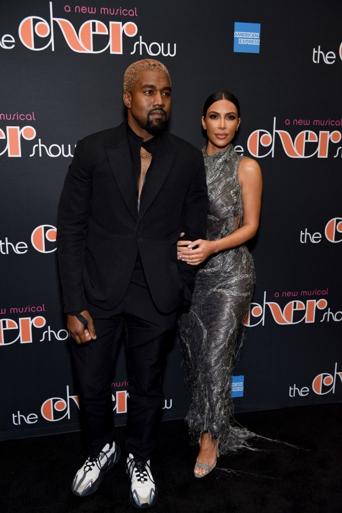 """Kanye West and Kim Kardashian West arrive at """"The Cher Show"""" Broadway Opening Night. 