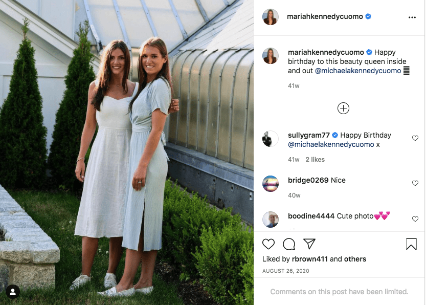 A screenshot of Mariah Cuomo's post on her Instagram page   Photo: instagram.com/mariahkennedycuomo