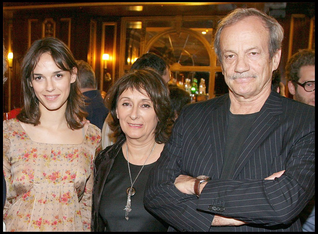 Josiane Stoléru, Patrick Chesnais et leur fille Émilie Chesnais le 3 avril 2009. l Source : Getty Images