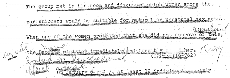 Excerpt from an FBI transcript. | Source: National Archives (archives.gov)
