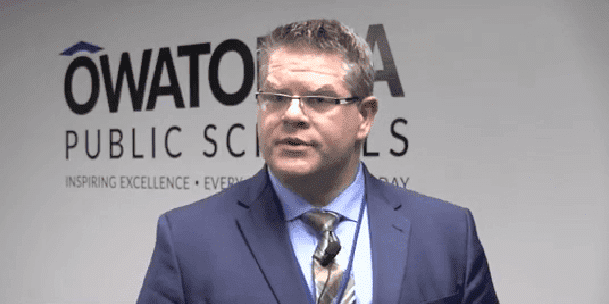 Owatonna Schools superintendent, Jeff Elstad. | Source: YouTube/KIMT News 3