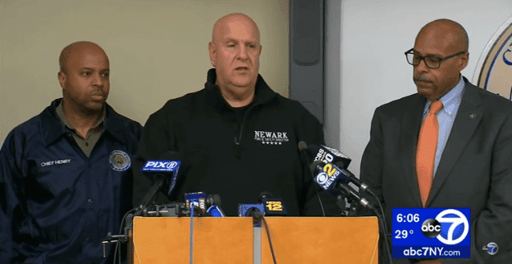 Anthony Ambrose, Newark Public Safety Director, at a news conference. | Source:  YouTube/ Eyewitness News ABC7NY