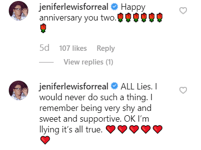 Jenifer Lewis comments on Sheyl Lee Ralph's Instagram video. | Source: Instagram/diva3482