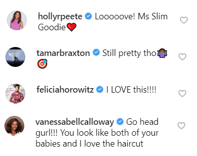 Comments on Mrs. Tina's photo. | Source: Instagram/mstinalawson