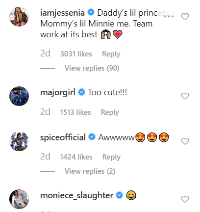Celebrities' comments on Cardi's post. | Source: Instagram/iamcardib