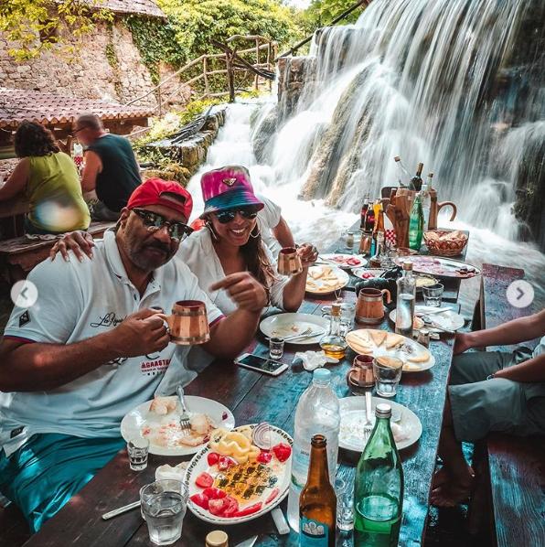 Marjorie and Steve at the  Plitvice lakes in Croatia. | Source: Instagram/marjorie_harvey
