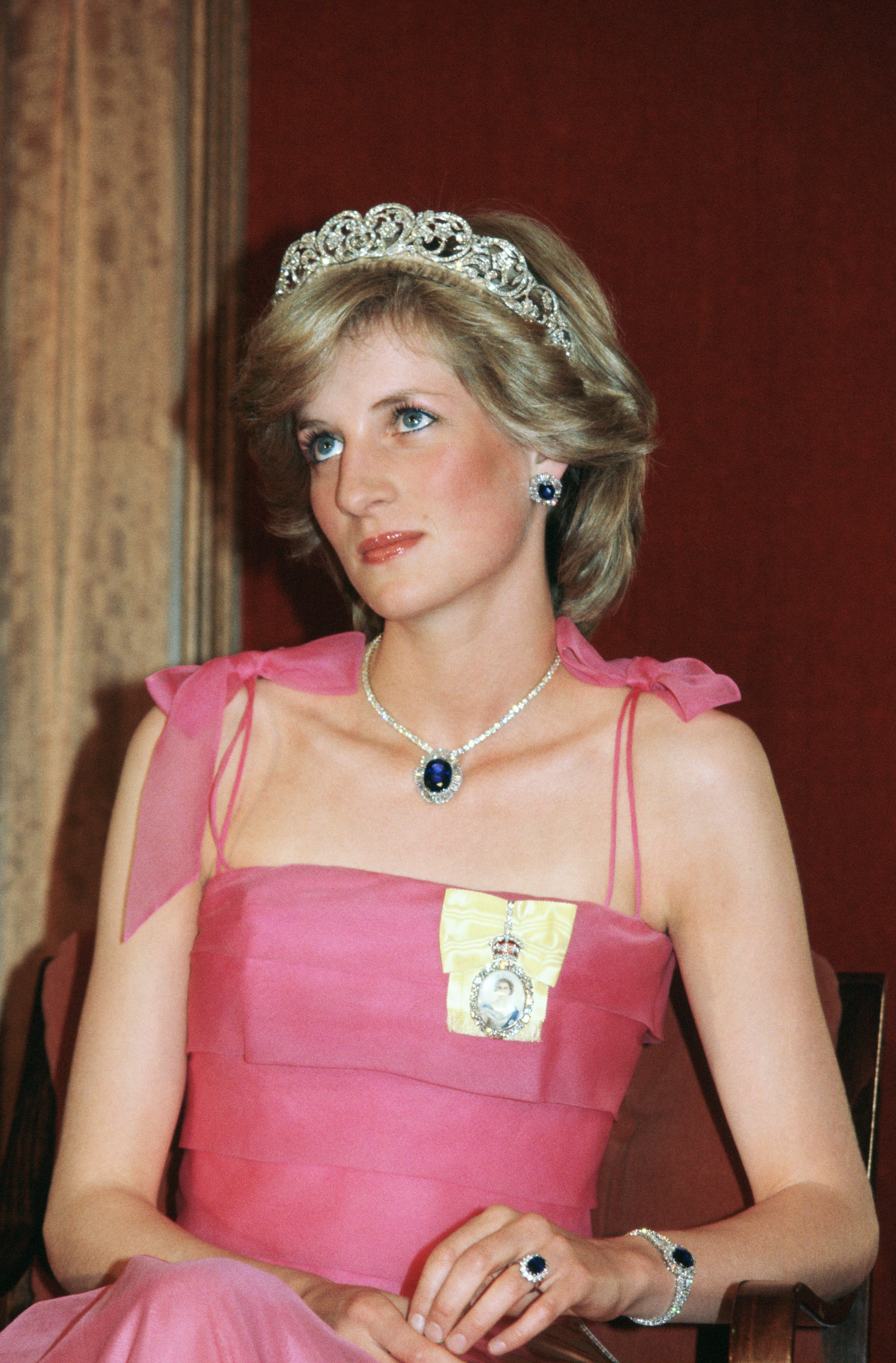 Princess Diana flaunts The Spencer Family Tiara, a gift from the crown prince of Saudi Arabia in 1983. | Source: Getty Images