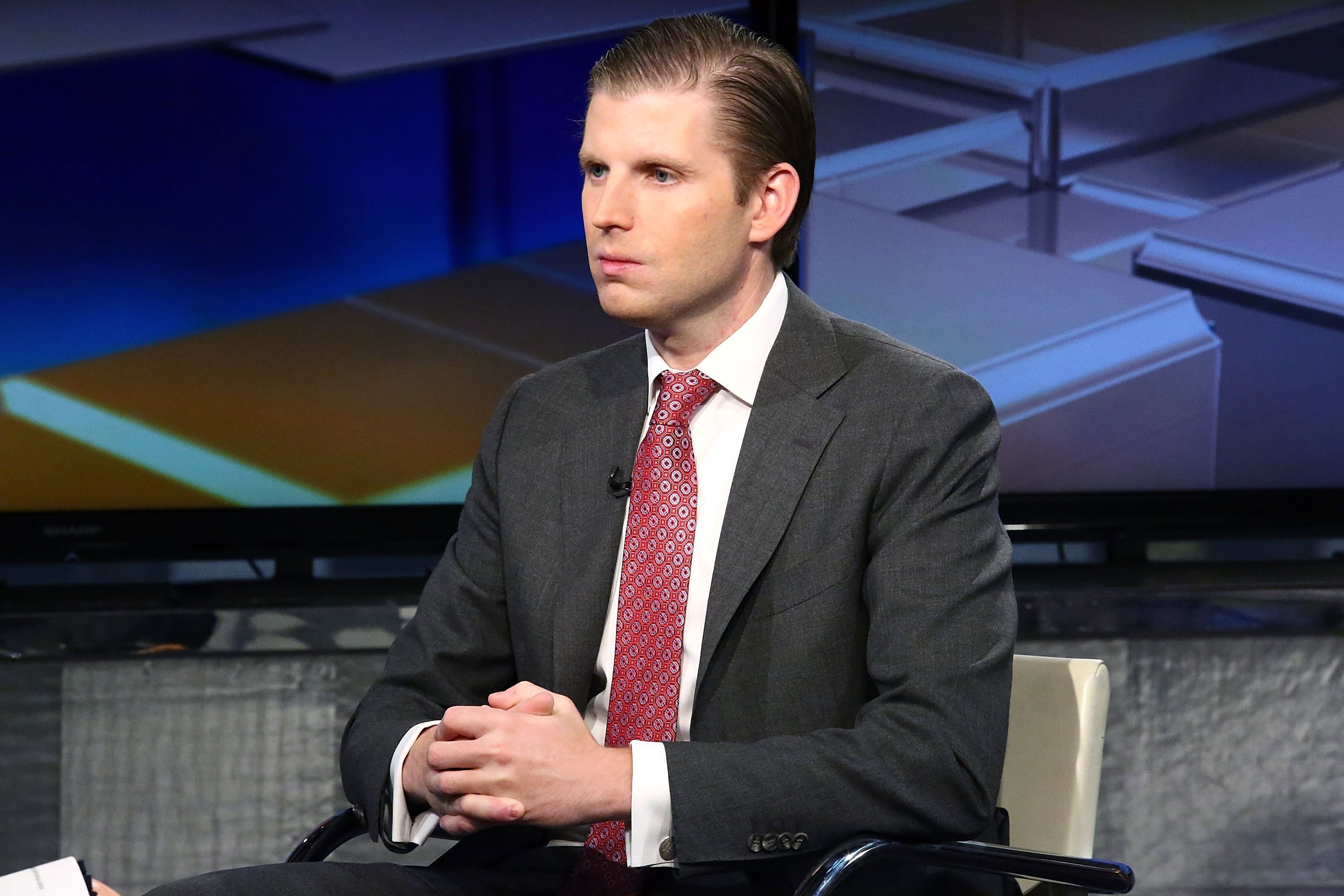 Eric Trump at FOX Business Network's Maria Bartiromo at FOX Studios on October 4, 2016 in New York City | Photo: Getty Images