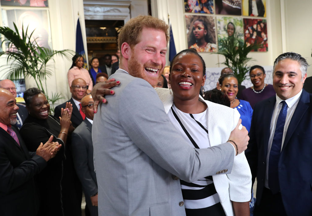 Image Credits: Getty Images/ Prince Harry and  Irene Kendi, Youth Advisor for Kenya