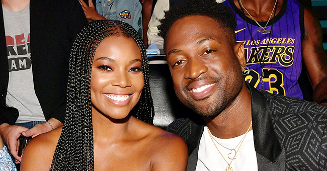 AGT Judge Gabrielle Union Wears Strapless Gown with Dwyane Wade's Face All over It for Live Shows