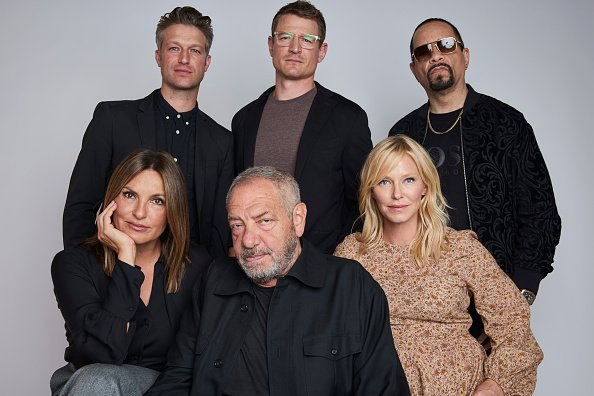 Mariska Hargitay & co-stars of NBC's Law & Order: SVU pose for a portrait |