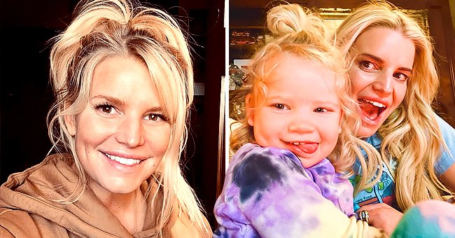Jessica Simpson Shares a Playful Photo Sticking Her Tongue Out with Daughter Birdie Mae