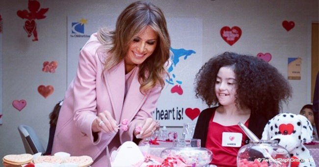 13-year-old sick boy gifts Melania a necklace on Valentine's day with 2 beautiful words
