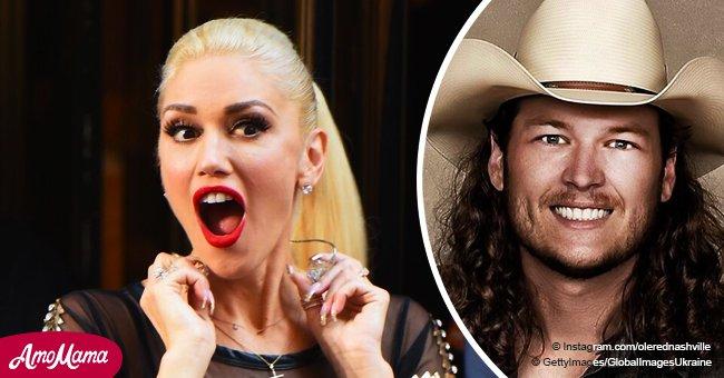 Gwen Stefani Shares Blake Shelton's Throwback Photo with Hilarious Curls Under a Cowboy Hat