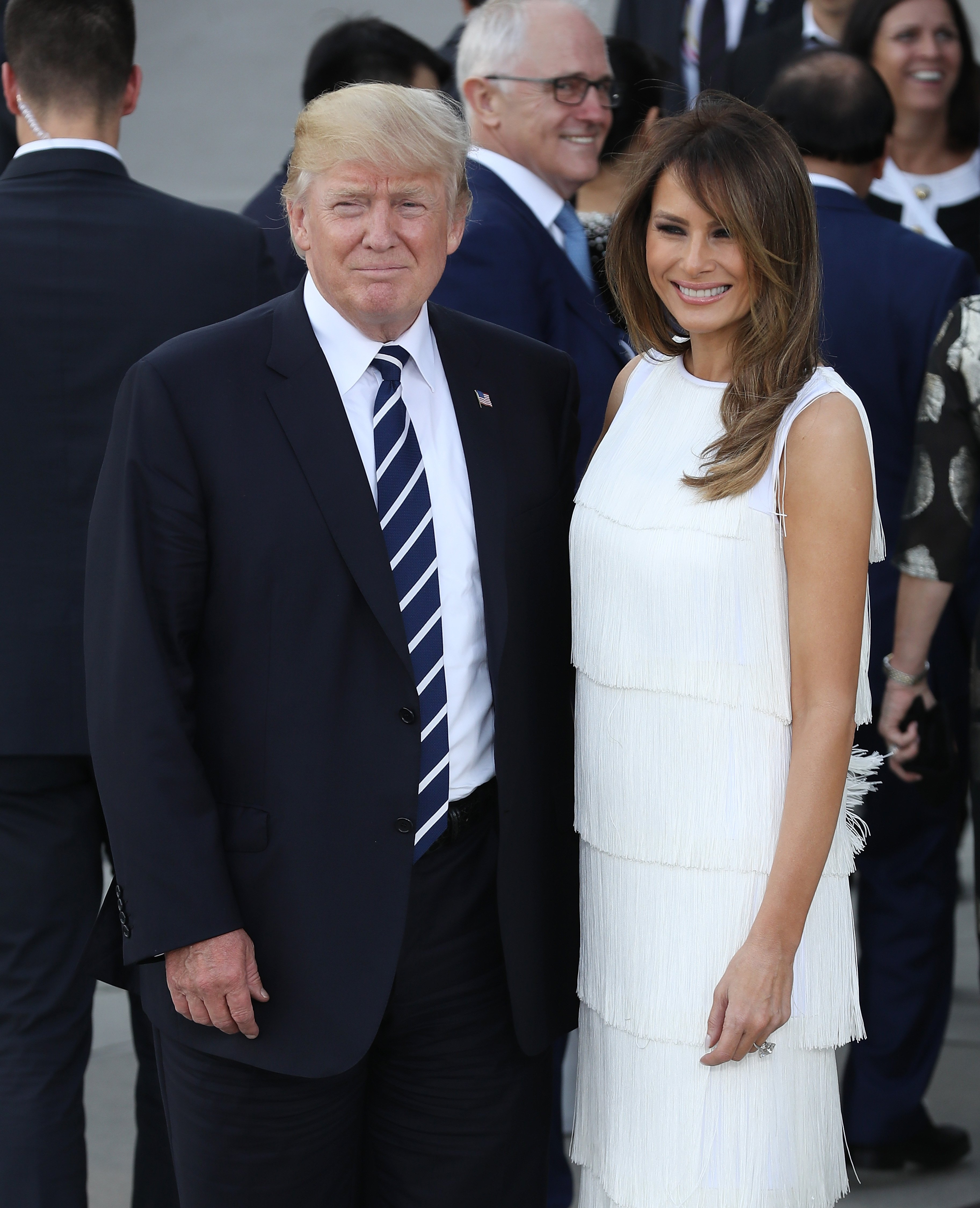 Donald and Melania Trump at the 2017 G20 economic summit in Hamburg, Germany | Photo: Getty Images
