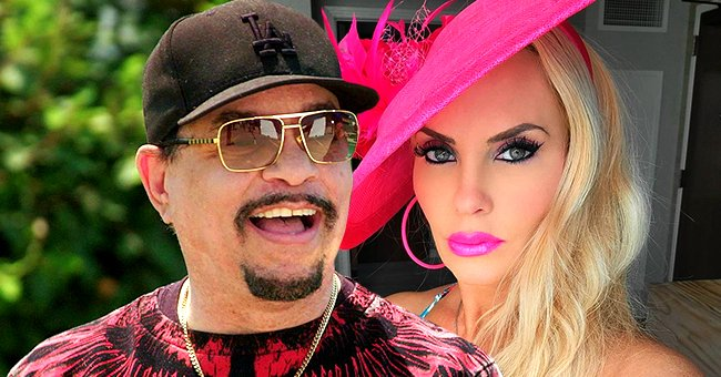 Ice-T's Wife Coco Pours Her Curves into a Tight Skimpy Floral Dress with Cleavage in New Photos