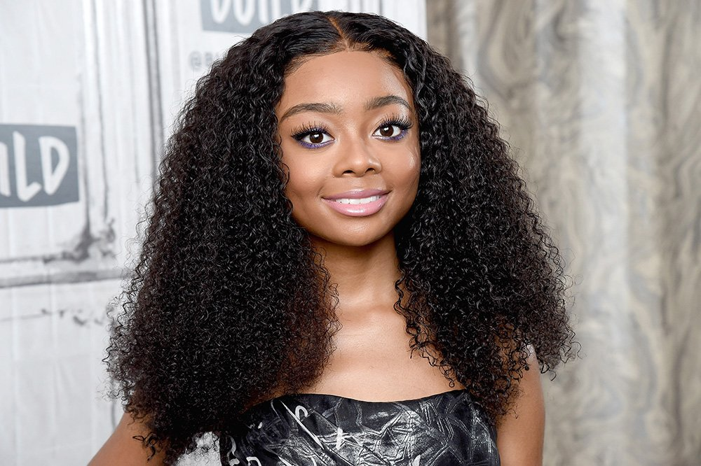 Skai Jackson visits the Build Series in New York City in October 2019. I Image: Getty Images.