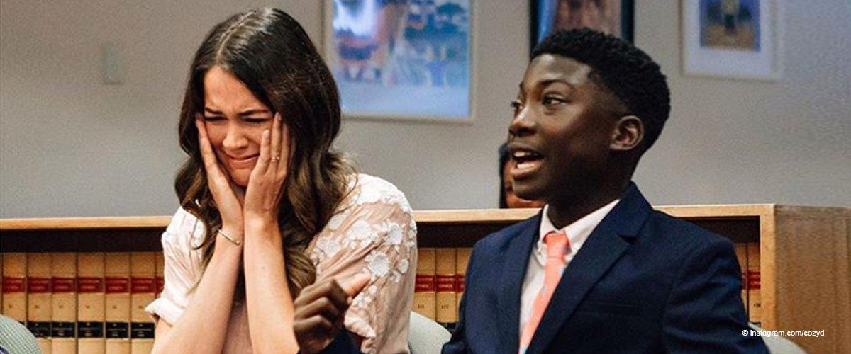 Pflegemutter weint, nachdem der Junge dem Richter sagt, warum er ihr Sohn sein will